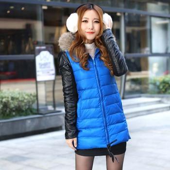 Winter women's 2013 fashion elegant slim brief with a hood wadded jacket down coat 02253109