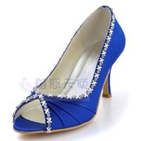 MZ623 unique designer White wedding shoes handmade blue evening shoes high heels pumps for women,free shipping