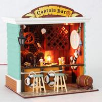 Diy mini handmade toy with light model house gift diy house