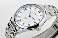 Free shipping Casual quartz watch men stainless steel men watch classic fashion waterproof women table Rhinestone watch
