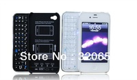 free shipping 1pcs Bluetooth wireless  slide Keyboard  phone back case updated version For iphone4 4s case