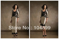 HOT SALE  Lace Gown Dress Mother of the Bride With Lace Jacket Bolero Shawl Floor Length