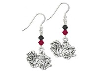 Free Shipping South Carolina Gamecocks Bicone Crystal Sports Earrings(E102554)