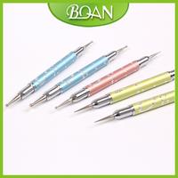 2013 New Design 5 Pcs Two Sides Mini Nail Dotting Tool Kit Nail Dotter Set +Free Shipping