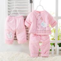 Wyqr baby wadded jacket set baby autumn and winter wadded jacket cotton-padded jacket cotton-padded jacket newborn clothing