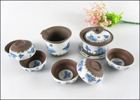 Free shipping !!!  Purple grit  tea set,tea cups , the public tea cup