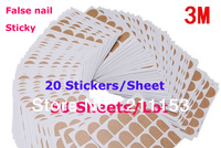 50 Sheets/Lot Original 3M Double Side Adhesive Glue False Nail Transparent Sticker Best 3m Safe Sticky Tape for False Nail Tips