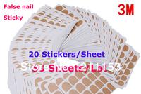50 Sheets/Lot Original 3M Double Side Adhesive Glue False Nail Transparent Sticker Best 3m Safe Sticky Tape for False Nail Tips