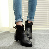 2013 women's boots comfortable with the boots buckle zipper pointed toe martin boots