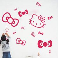 K bow hellokitty cartoon bow HELLO KITTY wall stickers 029