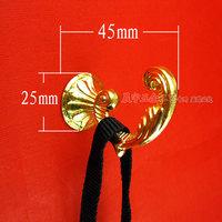 Golden European archaize single clasps solid alloy coat hanger/coat/dress kitchen wall hook