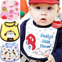 free shipping 3421 100% princess baby cotton bib cotton waterproof 100% muffler scarf embroidered baby bibs bib