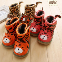 2013 ploughboys cotton-padded shoes male female child snow shoes 3515 thickening warm shoes classic leopard print tiger style