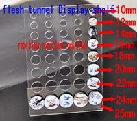 10 PCS clear acylic Flesh Tunnel Body Jewellery Display Stand DP16969