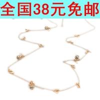 Fashion Jewelry Luxury fashion drop necklace female sparkling Fashion woman brief all-match necklace fashion accessories dn