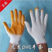 Hot promotion lowest price work gloves pvc dipped working gloves rubber gloves nitrile gloves wholesale free shipping