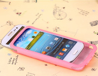 Leather Skin Pouch Stand Case Cover For Samsung Galaxy SIII S3 I9300 Wholesales Free Shipping