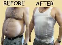 1 PCS white/black Slim N Lift for Men Shaping undergarment elimination of male beer belly M/L/XL/XXL