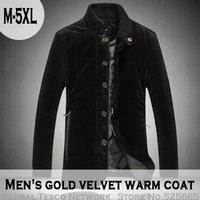 Free Shipping New 2013 Autumn Winter Plus Size Men Casual Gold Velour Warm Cotton Parkas Jackets M, L, XL, XXL, 3XL, 4XL, 5XL