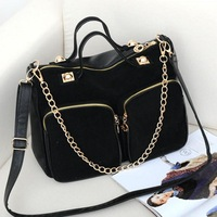 Nubuck leather women's handbag 2013 winter fashion chain women's scrub big bags messenger bag
