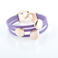 Fashion Circle Leather Bracelets Jewelry(12pcs/lot) Wholesale LR0002