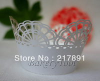 christmas decoration cup laser cutting Cupcake Wrapper wedding white molds for hand wholesale 72pcs on promotion free shipping