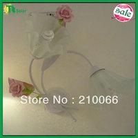 Rose Flower Wall Lamp 4pcs/lot Free Shipping Lighting Source decorative with Pink ceramic flower Lamps bracket light corridor