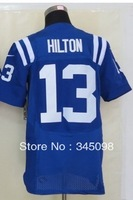Hot Promotion!Free Shipping,Cheap,#13 T.Y. Hilton Blue Men's Elite American Football Jerseys Sale,Embroidery and Sewing Logos