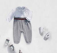Retail 2013 Newborn Baby Rompers Baby Girl Fashion Infant Mermaid Costume Bodysuits+Socks 2pcs Transport Baby  Christmas Outfit