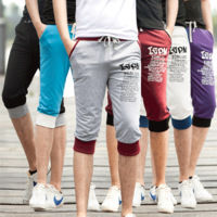 Jvr2013 casual pants male sports capris casual capris male 7 health pants male shorts