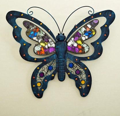 design papillon moderne mural d 233 coratif en m 233 tal suspendus sculpture dans artisanats