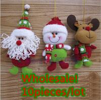 "Free Shipping,2013 new,Wholesale 10pcs/lot 8"" Indoor Christmas Hanging Decoration Santa Claus Snowman Deer"