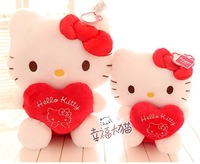 2013 new arrival! 15 inch super cute brand soft stuffed hello kitty hold heart toy, graduation & birthday gift  for girls, 1pc