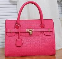2013 Fashion Women's Large PU Crocodile pattern Handbag Cross-Body Bags  Women's bag