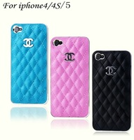 Fashional cover for iphone 5g with luxury electroplating frame hard+PU leather case for iphone5