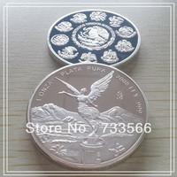 2008 Mexican Silver Libertad Free Shipping 5pcs Mexico Snake Coins Silver Mexican Clad Silver Bullion coin
