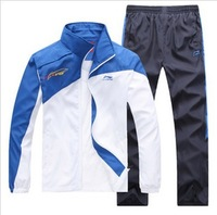 Free Shipping, 2013 Li Ning,Blue, green, red, gray Spring and Autumn sportswear, suits,, leisure, men's, Woman sportswear