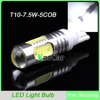 T10 194 168 W5W 5 COB 7.5W Hight Power LED Light Bulbs Car Turn Signal Light, Width Light Side Marker Light Reverse Light White