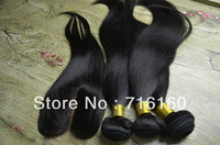 Peruvian Virgin Hair 4pcs Lot Middle Part Lace Closure With 3pcs Hair Bundles Unprocessed Human Virgin Hair Extension Body Wave