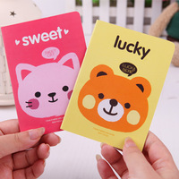 20pcs/lots Cartoon animal head 64k stitch book /notepad /small book