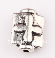Fashion Jewelry Vintage  Silvers Cross Square Charms  Spacer Beads 10*7mm DIY Jewelry Findings Free Shipping 300PCS  Z1617