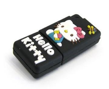HOTSALE 1GB 2GB 4GB 8GB Hello Kitty USB Pen Driver, Rubber USB Memory Free Shipping(China (Mainland))