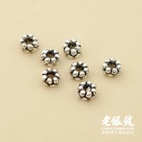 Thai silver 925 3mm spiral rivet septate septa pure silver diy bracelet necklace accessories c