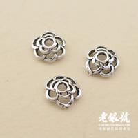 Thai silver 925 6mm multi-layer thalami cutout diy bracelet necklace accessories pure silver a2