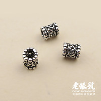 Thai silver 925 5mm cutout every bead ductulus diy bracelet necklace accessories pure silver a2