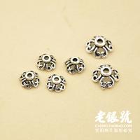 Thai silver 925 5.5mm 7.2mm clover cutout thalami pure silver diy necklace