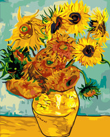Diy digital oil painting flower decorative painting 40 50 - sunflower