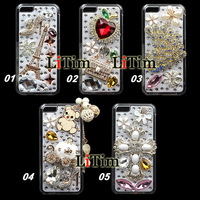 Hot Sale Diamond Bling Case For iPhone 5C, DIY Handmade Crystal Cover, Rhinestone Case
