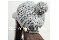 Delicate Gift Handmade Women Hat Winter Beanies Peaked Cap For Woman 8 Colors For Choose Cloth Accessory W4218