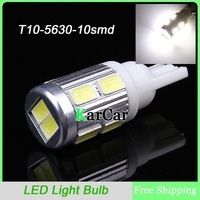 T10 194 168 W5W 10 SMD 5630 2.5W Hight Power LED Light Bulbs Car Corner Light Lamp, Clearance Light Free Shipping